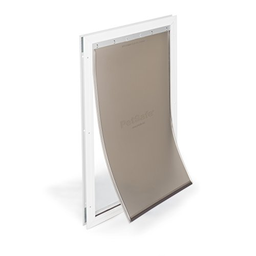 PetSafe Freedom Aluminum Pet Door for Dogs Extra-Large, White, Tinted Vinyl Flap