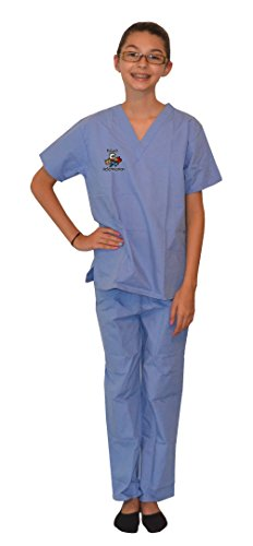 Ceil Blue Kids Scrubs with Veterinarian Animals Embroidery Design (8/10) -