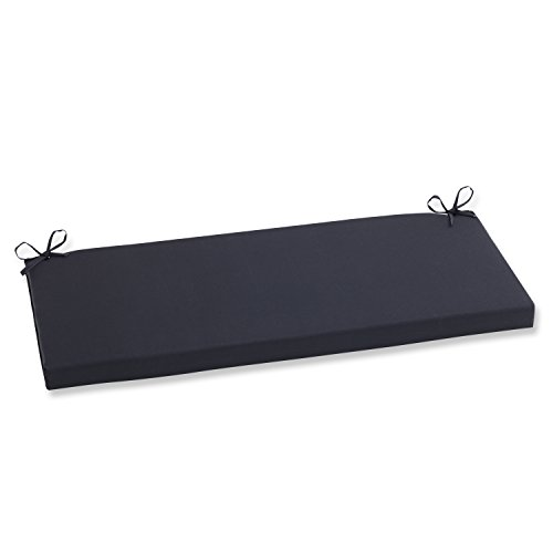 Pillow Perfect Indoor/Outdoor Fresco Bench Cushion Black