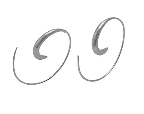 Sterling Silver Celtic Spiral Earrings (925 Sterling Silver Thin Wire Spiral Infinity Earrings -NanoStyle)