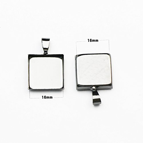 Brass square pendant settings for your fashion necklace design fashion pendants in factory ()