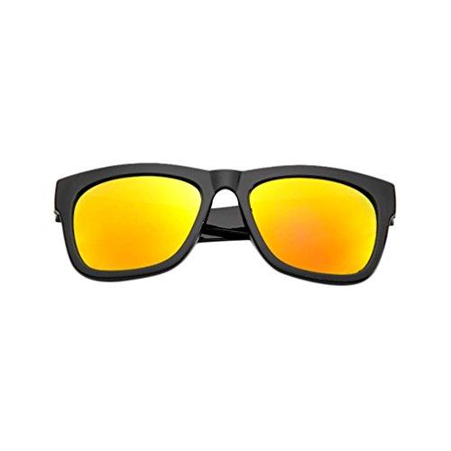 Rouge Soleil Sunglasses Outdoors Mode Miroir Vif Couleurs Et Verres Rétro Lunettes Mercure Noir Casual Aviateur Hommes Femmes De 6 Adeshop Unisexe p6HqPP
