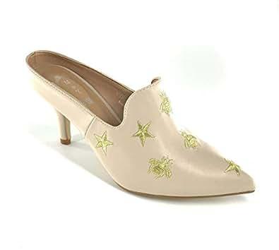 M&Y Mid-heeled Shoes -Beige