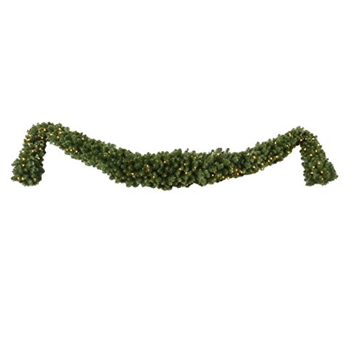 Vickerman 9' x 15'' Pre-Lit Grand Teton Artificial Christmas Swag Garland -Clear LED Lights by Vickerman