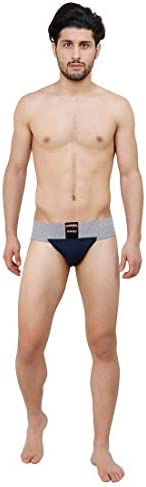Athletic Supporter-100% Cotton Underwear Style Jock NO Straps for Gym, Athletics, Hockey, Martial Art | Charge
