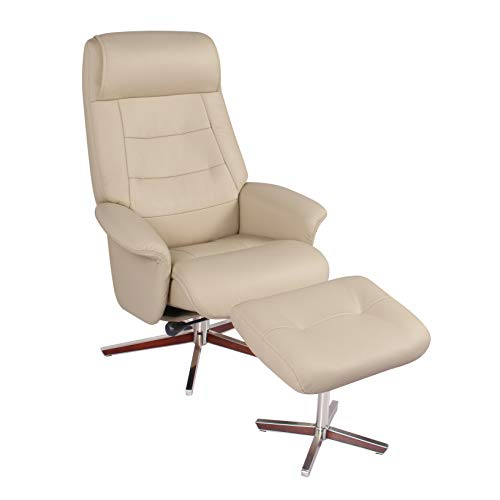 Coja by Sofa4life Gustafson Leather Recliner and Ottoman ()