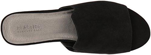 Kenneth Cole REACTION Womens Vikki Slip Embellished Heel Slide Sandal Black ZjH059Os0