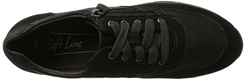 Softline Damen 23771 Sneaker Schwarz (Black)