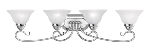 Livex Lighting 6104-05 Coronado 4 Bath Light, Chrome - Chrome 5 Light Vanity