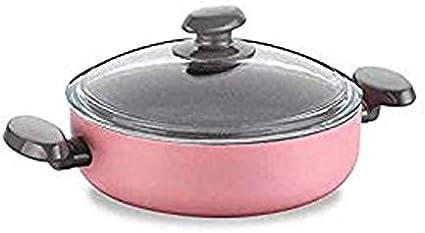 وعاء الطهي منخفضة ميا مانوليا بغطاء سعة 2.7 لتر من كوركماز لون وردي