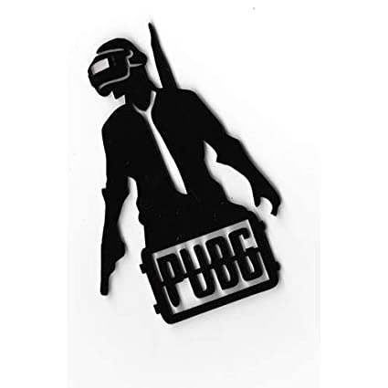 The Logo Man PUBG 3D Car Bike Sticker Logo Decal Emblem