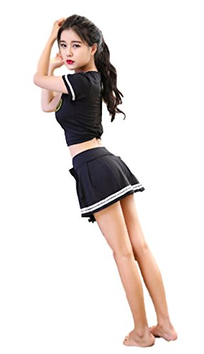 P-LINK Kwaii Cosplay Lolita Cute Cheerleader Costume Sexy Costume Party Sailor Suit