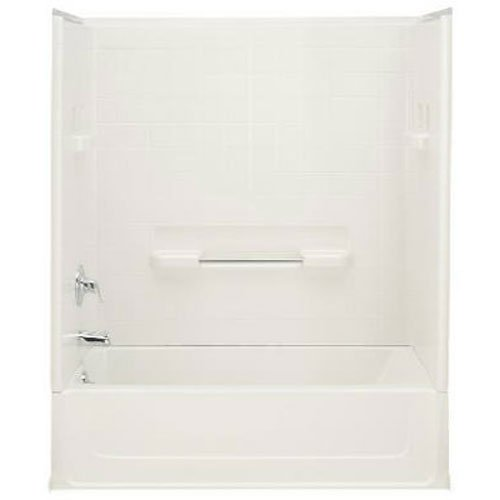 Big Save! Sterling Plumbing 61041110-0 All Pro Bathtub, 60-Inch x 30-Inch x 15-Inch, Left-Hand, Whit...
