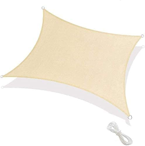FLR 9.8×16.4ft Outdoor Sun Shade Sail Canopy Heavy Weight Rectangle Shade and Beyond Sun Shade Sail UV Block Cover