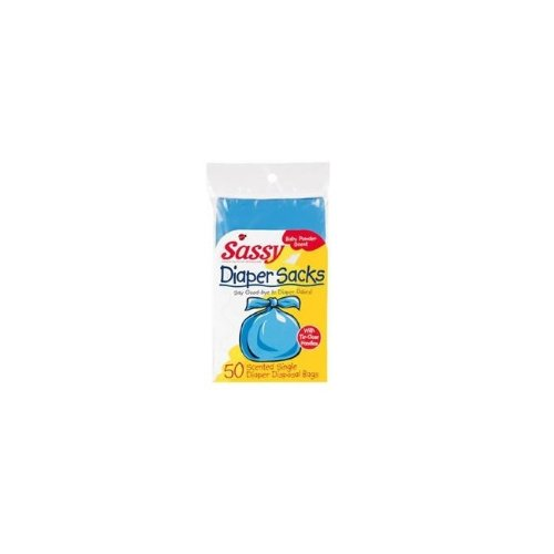 Sassy Disposable Scented Diaper Sacks-50 Cnt Pack