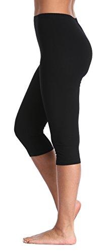 Women's Capri Leggings 3/4 Length Leggings Comfortable Modal Leggings (Plus Size Available)