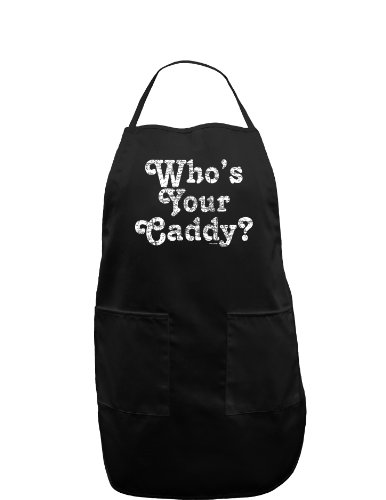 Who's Your Caddy Dark Adult Apron - Black - One-Size