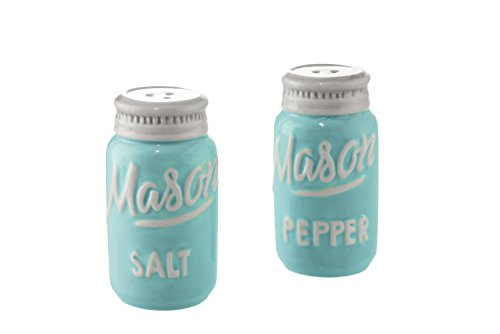 mason jar ceramic salt pepper