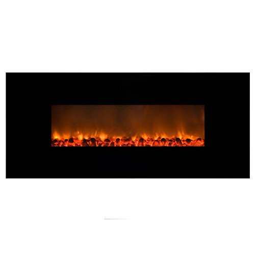 Cheap AA Warehousing 54 Inch Wall Mount Electric Fireplace by Y Decor-Black FP148 Large Black Friday & Cyber Monday 2019