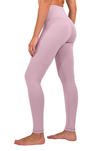 90 Degree By Reflex - High Waist Power Flex Legging - Tummy Control - Purple Luster - Large