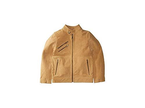 Urban Republic Kids Boy's Cow Suede Leather Jacket (Little Kids/Big Kids) Sand 10/12
