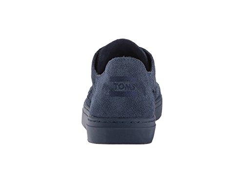 Women's Woven Monochrome Suede Deconstructed Navy Panel TOMS Lenox Oxford Sneaker 7qUwddR