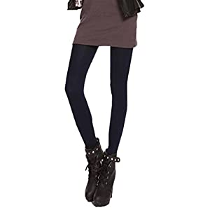 Women Leggings,Todaies Autumn Winter Pants Burnish Opaque Tights Candy Color Leggings Tights Trample (Free size, Navy)