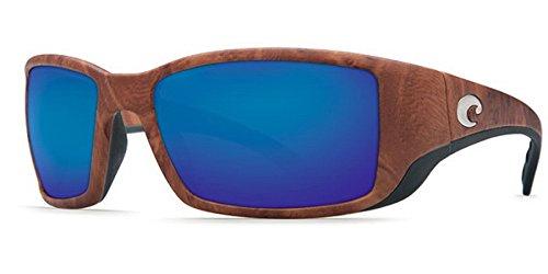 Costa Del Mar Sunglasses - Blackfin- Plastic / Frame: Gunstock Lens: Polarized Blue Mirror 580 Polycarbonate by Costa Del Mar