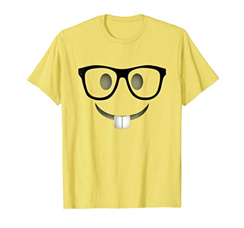 Nerd Emoji Halloween Costume Shirt Adults Group T-Shirt