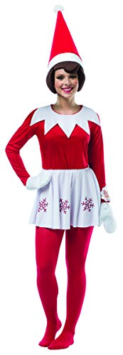 Rasta Imposta Women's Elf On A Shelf Female, Red/White, One Size -