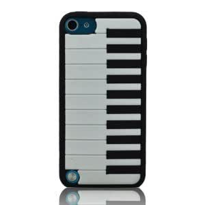 I Need Stylish 3D Black Piano Soft Silicon Case Cover Compatible for Ipod Touch 5 /5g/5th Generation