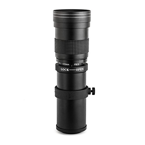 Opteka 420-800mm f/8.3 HD Telephoto Zoom Lens for Olympus EVOLT E-5, E-520, E-510, E-500, E-450, E-420, E-410, E-400, E-330 and E-300 Digital SLR Cameras