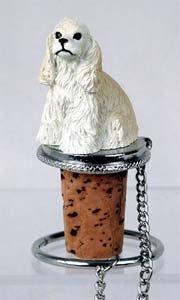 - Cocker Spaniel Bottle Stopper (White)