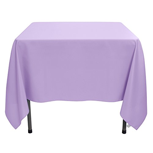 Lilac Table Cover - Remedios Tablecloth 70-inch Square Polyester Table Cover - Wedding Restaurant Party Banquet Decoration, Lavender