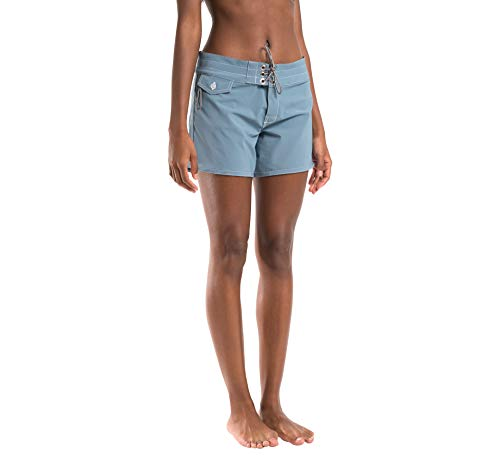 Birdwell Women's Stretch Board Shorts - Long Length (Light Blue, 10) by Birdwell Beach Britches (Image #2)