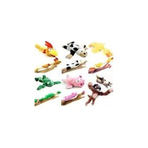 6pc Set of Slingshot Flingshot Flying Animals with Sound Monkey Pig Chicken Cow Duck Frog - 31tip 2BIjo6L - 6pc Slingshot Flying Screaming Monkey Toy Flingshot Dog