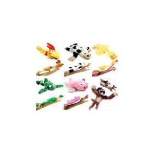 6pc Set of Slingshot Flingshot Flying Animals with Sound Monkey Pig Chicken Cow Duck Frog - 31tip 2BIjo6L - 6pc Slingshot Flying Screaming Monkey Toy Flingshot Dog