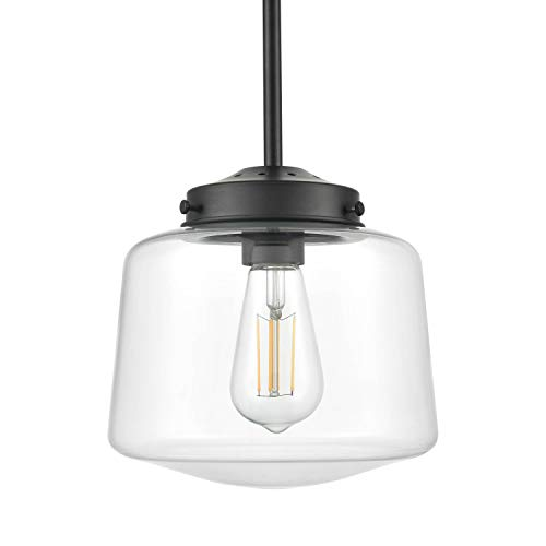 Scolare Vintage Pendant Light Black Kitchen Island Light with LED Bulb LL-P274-BLK