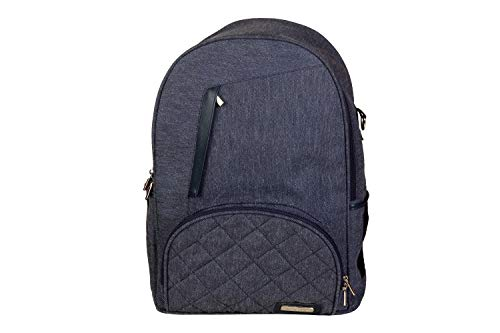 My Milestones Stylish Suave Backpack Baby Diaper Bag Mothers Bag with Changing Mat  Denim Blue