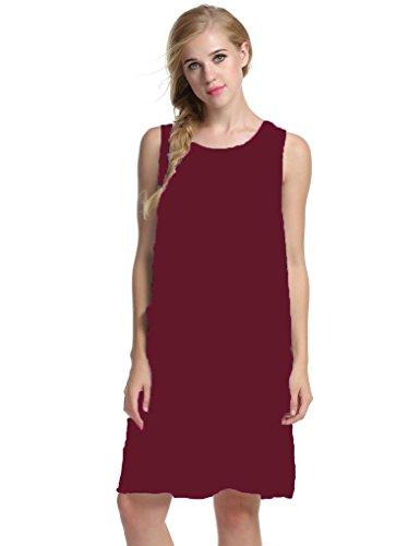Sleeveless Sundress Floral Dresses Pockets