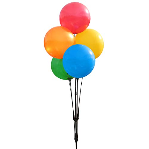 Balloon Bobber - Weatherproof Reusable Paneled Balloon Cluster Pole Kit - Helium Free Plastic Outdoor Balloons]()