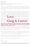 Love, Greg & Lauren: A Powerful True Story of Courage, Hope, and Survival
