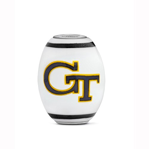 - Georgia Tech Yellow Jackets Large Glass Bead Fits Most European Style Bracelets