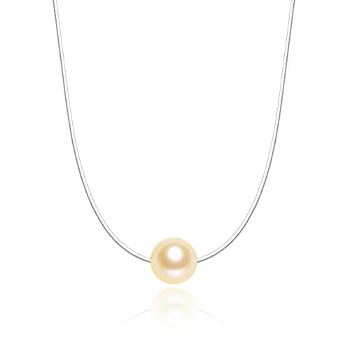 Pink Single Freshwater Cultured AAAA Quality Pearl Pendant Necklace (7.5-8mm) 16