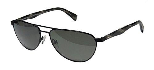 Seraphin Thomas Mens/Womens Aviator Full-rim Titanium Polarized Lenses Sunglasses/Sun Glasses (59-16-140, Matte Black / - Who Sunglasses Doctor