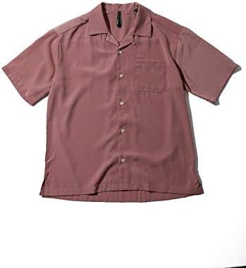 SPINNS 開襟シャツ/半袖オープンカラーシャツ/リラックスシルエット/無地