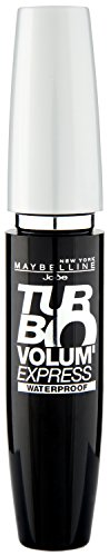 Maybelline New York Mascara Augen Make-Up Volum' Express Turbo Boost Black Waterproof (einmal Auftragen - kolossales Volumen), schwarz, 1 x 8,5 ml