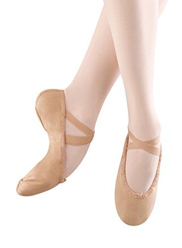 (Bloch Dance Women's Pump Canvas Split Sole Ballet Slipper,Flesh,5.5 B US)