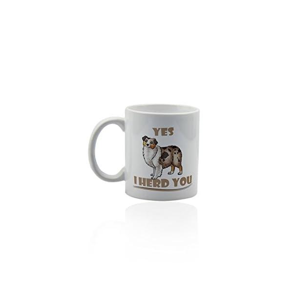 Australian shepherd white ceramic mug for coffee or tea 11 oz. Aussie dog mom Gift cup. 3