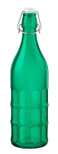 Bormioli Rocco Moresca Bottle, 33-3/4-Ounce, Emerald, Set of 6
